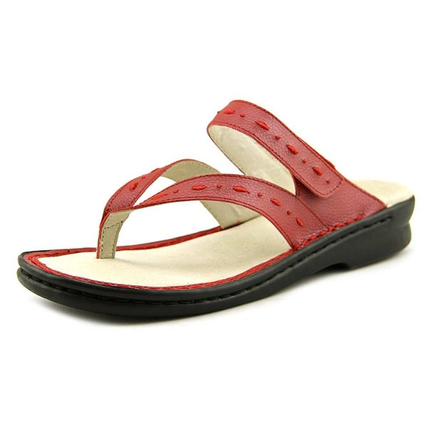 Propet Martina Open Toe Leather Thong Sandal