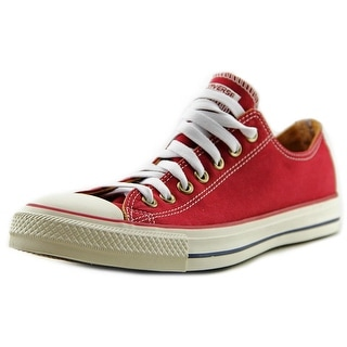 Converse All Star Ox Women  Round Toe Canvas Red Sneakers
