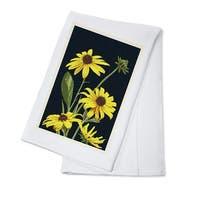 Black Eyed Susan - Letterpress - LP Artwork (100% Cotton Towel Absorbent)