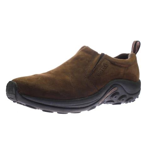 Merrell Men's Jungle Moc Suede Slip On Water Resistant EVA Sneakers - Dark Earth