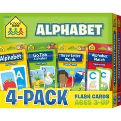 Alphabet - Flash Cards 4-Pack