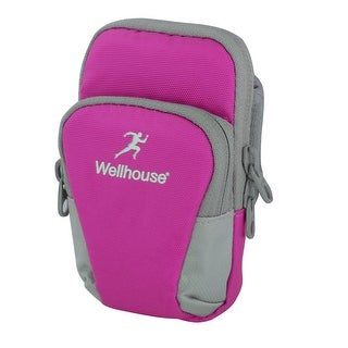 Wellhouse Authorized Sports Running Nylon Arm Bag Phone Pack Holder Fuchsia M