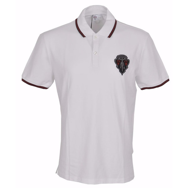 3981ed1b7 Gucci Men  x27 s 345394 White SLIM Fit Hysteria Crest Web Trim Polo Shirt