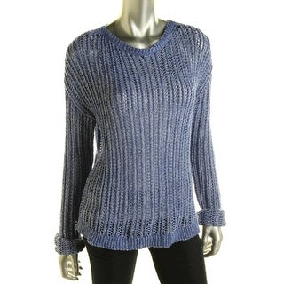 C & C California Womens Open Stitch Long Sleeves Pullover Sweater - S