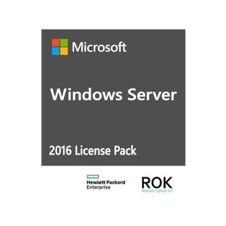 HPE ISS BTO Microsoft Windows Server 2016 Software License 1 User CAL