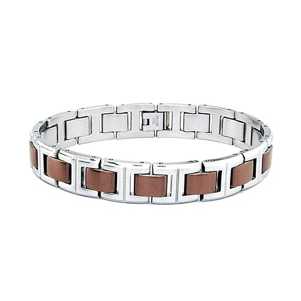 Stainless Steel Men's Bracelet - 8.25 Inches