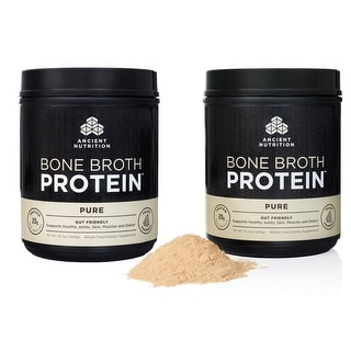 Ancient Nutrition Bone Broth Protein Powder - Pure - 40 servings - 2 Pack