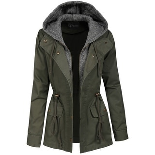 NE PEOPLE Womens Military Anorak Jacket [NEWJ2045]