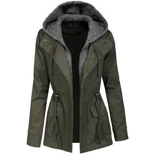 NE PEOPLE Womens Military Anorak Jacket [NEWJ2045]