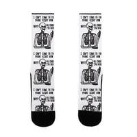 Look What You Made Me Do Skeleton Parody US Size 7-13 Socks by LookHUMAN