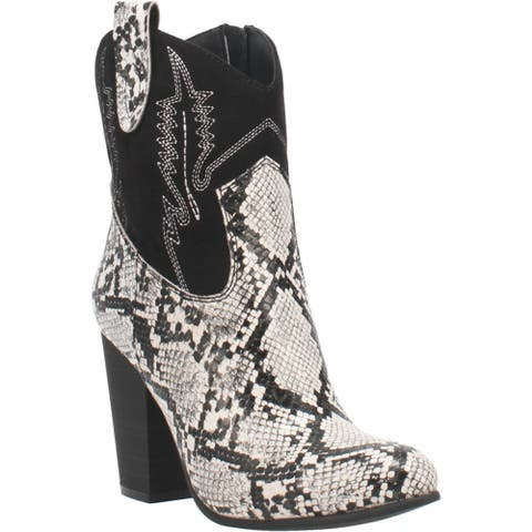 Code West Slayer Snake Round Toe Womens Western Cowboy Boots