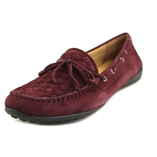 Vaneli Agota Women Round Toe Suede Burgundy Loafer