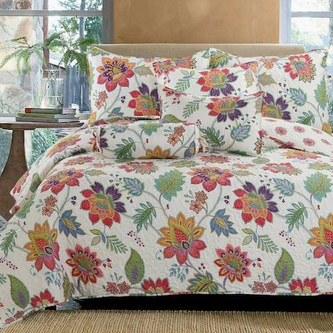 Breezy Floral Reversible Quilt Set