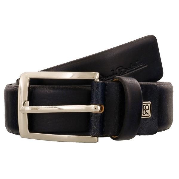 Renato Balestra W435 BLU Navy Blue Leather Mens Belt