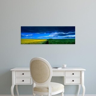 Easy Art Prints Panoramic Image 'Clouds Over Field, Hunmanby, Yorkshire Wolds, England, United Kingdom' Canvas Art