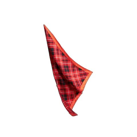 Burberry Unisex Vibrant Red Check Silk Bandana 4069960 - One Size