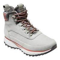 Cole Haan Women's ZeroGrand Explore All-Terrain Hiker Boot Ironstone Nubuck/Plaid/Magnet/Red Ochre/Vapor Grey