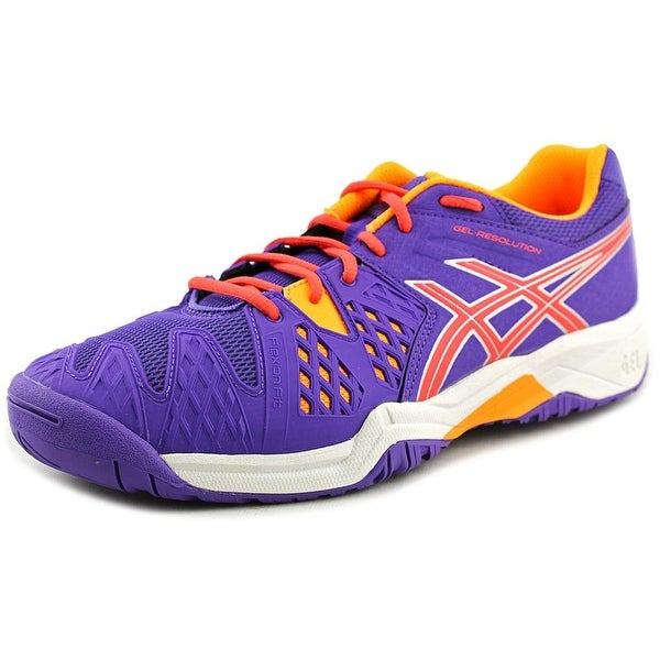 Asics Gel-Resolution 6 GS Youth Round Toe Synthetic Purple Tennis Shoe