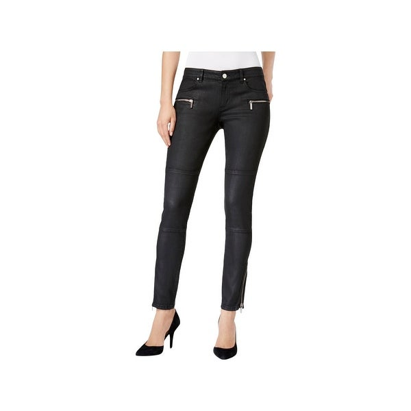 7d0fdbe127eb Shop MICHAEL Michael Kors Womens Skinny Jeans Mid-Rise Coated - Free ...