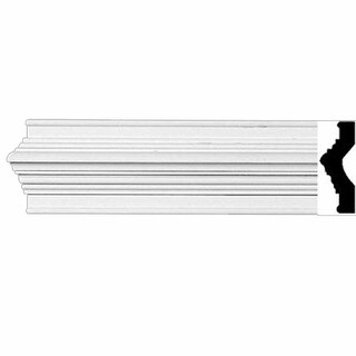 Crown Molding White Urethane 3 1/8 H Abbot Simple