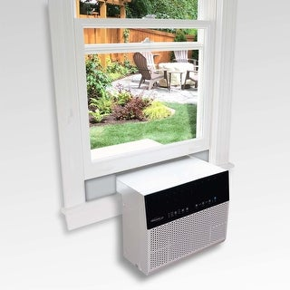 "Soleus Air® Exclusive 8,000 BTU ENERGY STAR® Saddle Air Conditioner with MyTemp Remote Control - 18.7"" X 28.9"" X 15"""