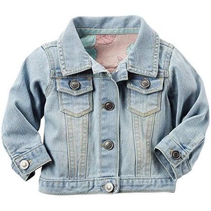 87412e115e44 Shop Carter s Baby Girls  Button Up Denim Jacket - 3 Months - Free ...
