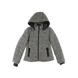 Andrew Marc Womens Coat Wool Blend Hooded