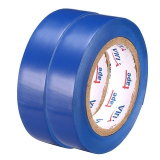 "PVC Electrical Insulating Tape Single Sided 21/32"" Width 49ft 20mil Blue 2pcs - 20 mil Thick, Blue"