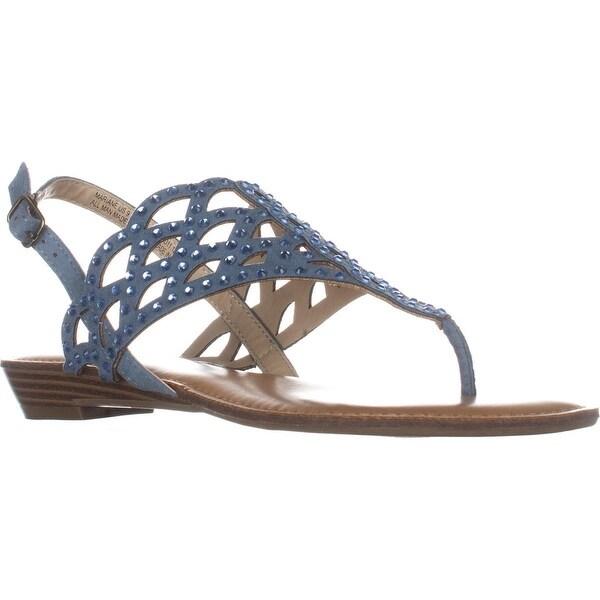 ZiGiSoho Mariane Flat Thong Sandals, Blue Grey