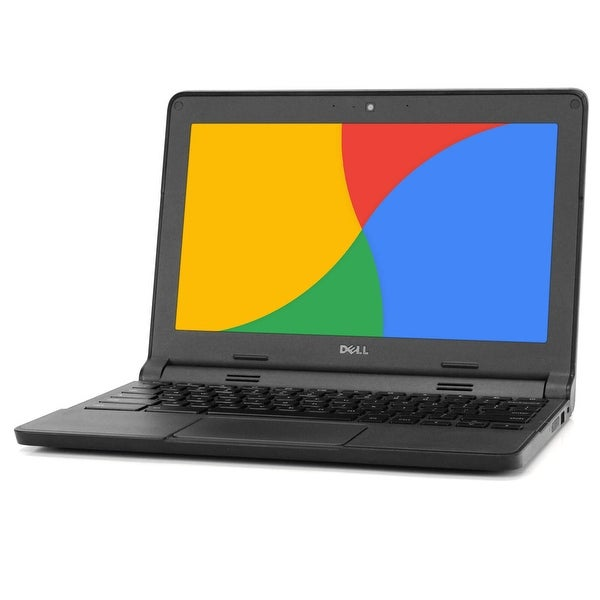 "Dell Chromebook 11.6"" Laptop Computer Intel 2GB 16GB SSD WiFi Grade B. Opens flyout."