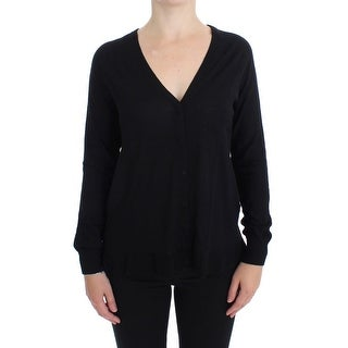 Dolce & Gabbana Dolce & Gabbana Black Wool Button Cardigan Sweater