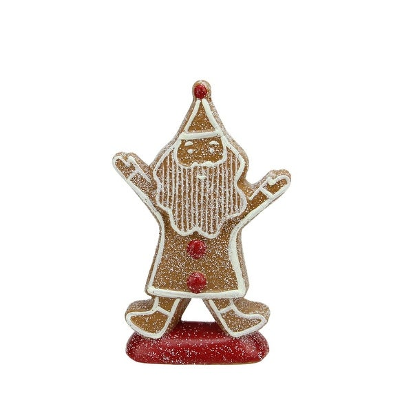 "8.25"" Gingerbread Kisses Sugared Cookie Santa Claus Christmas Figure Decoration"