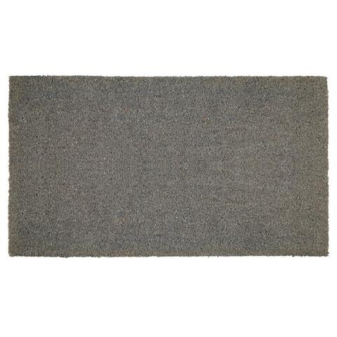 mDesign Doormat with Natural Fibers Decorative Script - 30 X 17