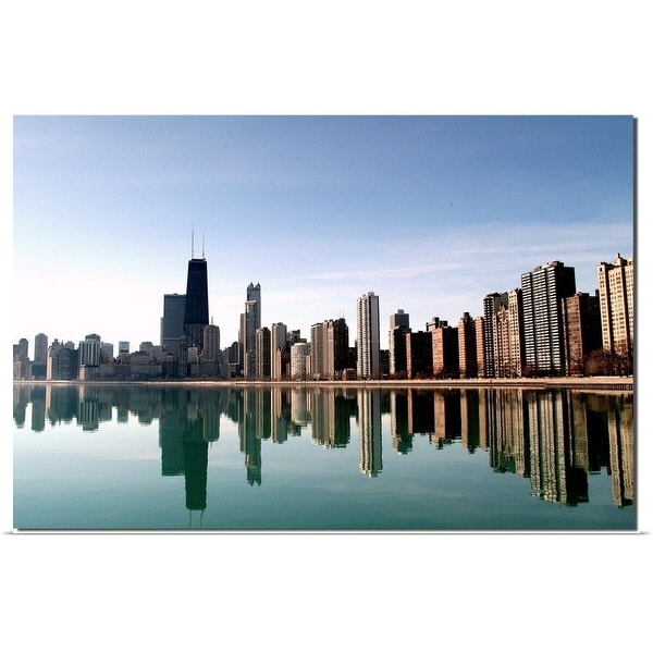 """Chicago Skyline with reflections"" Poster Print"
