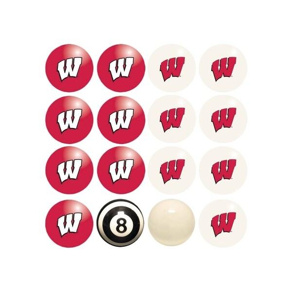 NCAA Wisconsin Badgers Billiard Balls Complete Set of 16 Balls - White