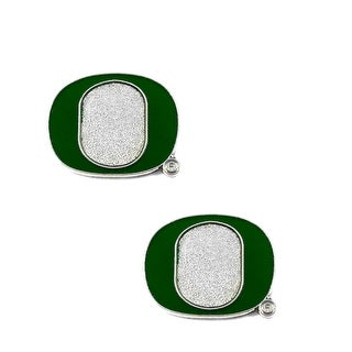 "Oregon Ducks ""O"" Post Stud Earring NCAA Charm Set"