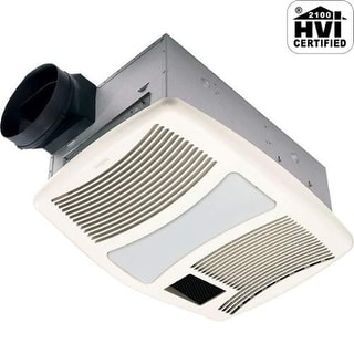 NuTone QTXN110HFLT 110 CFM 0.9 Sone Ceiling Mounted HVI Certified Bath Fan with