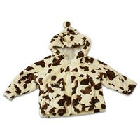 Fuzzy Wear Tan and Brown Pinto Pony Hoodie Size 12-18 Months
