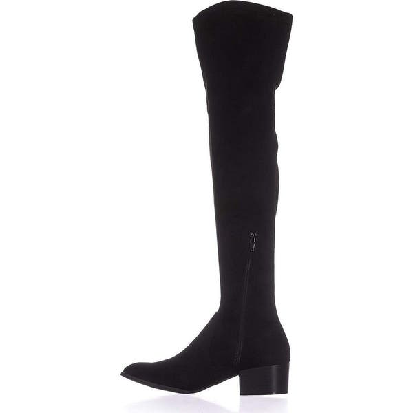 Kenneth Cole New York Womens 7 Adelynn Faux Suede Round Toe Over-The-Knee Boots