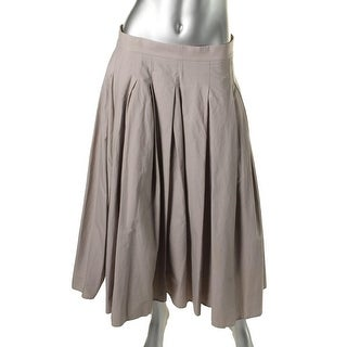 Pure DKNY Womens Long Pleated Flare Skirt - 8