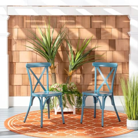 """Safavieh Outdoor Living Axton Stackable Side Chair (Set of 2) - 17.3""""x18.7""""x33.9"""""""