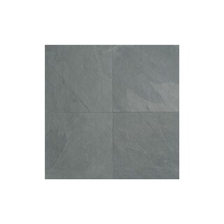 "Daltile S1616P2S Slate Collection - 16"" x 16"" Square Multi-Surface Tile - Unpolished Slate Visual - Brazil Gray - N/A"
