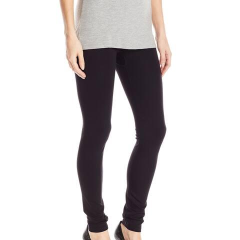 Hue Womens Leggings Black Size Small S Shaping High Waist Skinny Knit