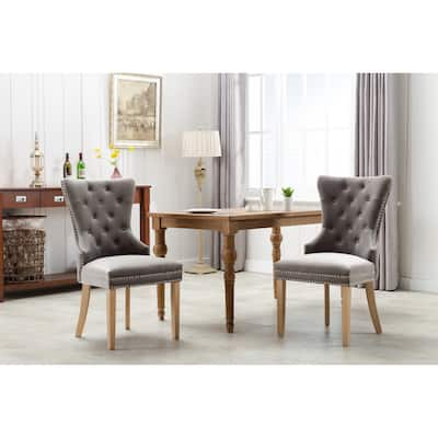 Home Beyond Button-tufted Velvet Dining Chairs (Set of 2) - 22 x 23 x 34 Inches