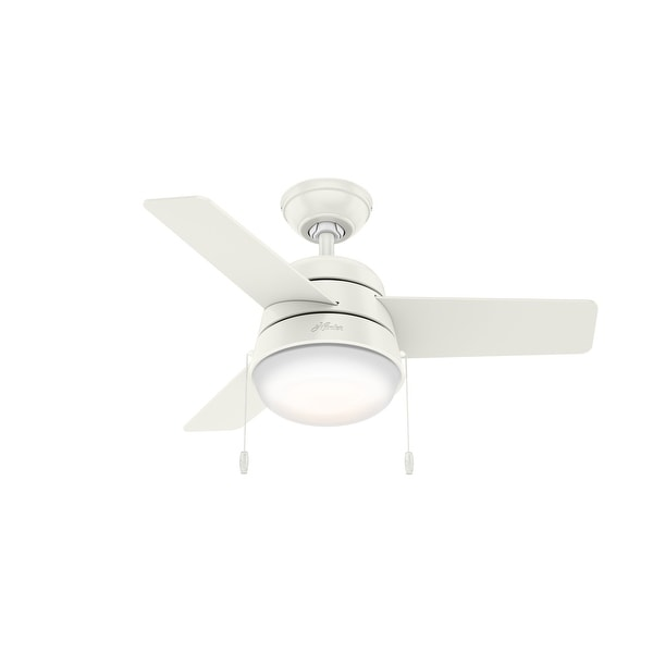 """Hunter 36"""" Aker Ceiling Fan with LED Light Kit and Pull Chain. Opens flyout."""