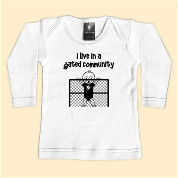 - I Live In A Gated Community - Black Long Sleeve T-Shirt - 18-24
