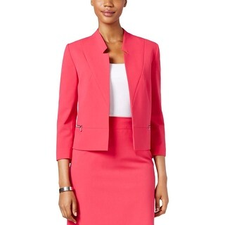 Tahari ASL Womens Blazer Stretch Long Sleeves