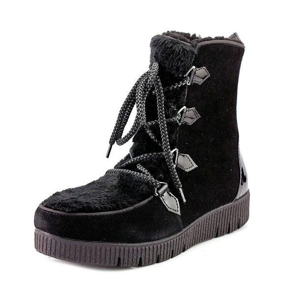 Sporto Cream Women Black Snow Boots