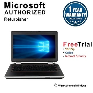 "Refurbished Dell Latitude E6420 14.0"" Laptop Intel Core i5 2520M 2.5G 4G DDR3 500G DVD Win 10 Pro 1 Year Warranty - Silver"