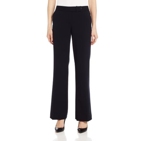 Calvin Klein Women's Pants Black Size 8 Dress Classic Fit Stretch